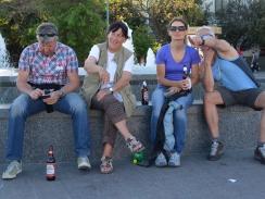 people watching in Jalta